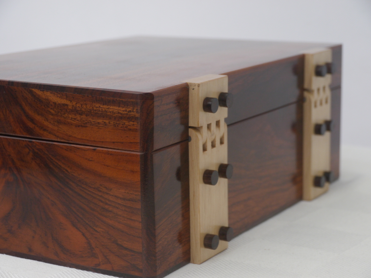 Dark Teak Jewellery Box 30cm115in The Jewellery Box Company